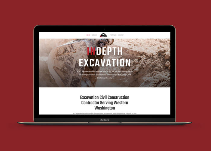 Indepth Excavation Construction Contractor Website Design by Crystal Frankenbery